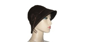 Dark Brown Felt Wool Hat Kova