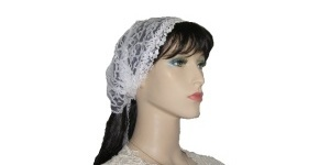 Yehudit White Lace Bandana