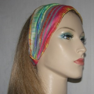 Rainbow Color Poly Cotton Headband