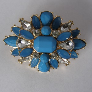 Airforce Blue Starburst Beaded Tichel Pin