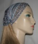 Aqua Mauve Floral Design Head Band