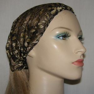Black Gold Lace Headband