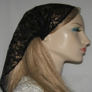 Black Triangular Cut Lace Headband