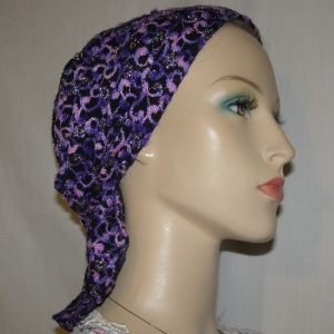 Black Purple Pink Headband Scarf