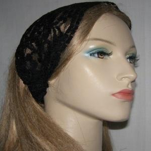 Black ReEmbroidery Floral Headband