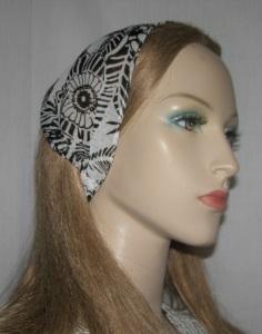 Black & White Poly Sheer Headband