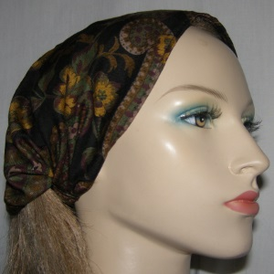 Brown Amber Paisley Design Headband