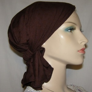 Brown Designd Headband Scarf