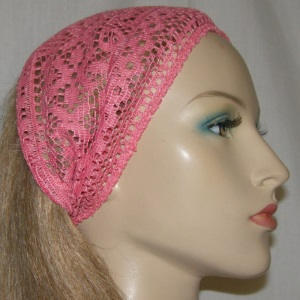 Coral Crocheted Headband