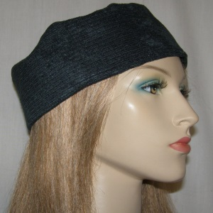 Dark Gray Corduroy Buchari Kippah