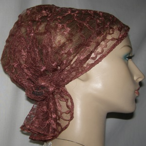 Ginger Lace Headband Scarf Head Covering