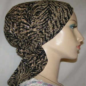Gold Black Headband Scarf
