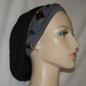 Gray Jeweled Headband