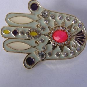 Salmon Rhinestone Tichel Pin