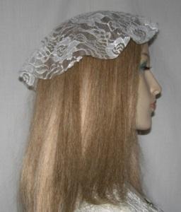 White Net Lace Venise Trim Doily