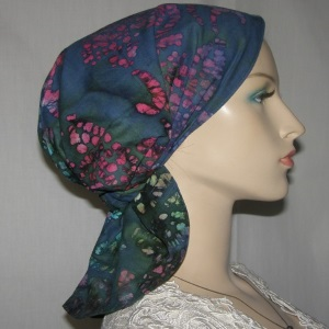 Jade Multi Color Batik Headband Scarf Head Covering