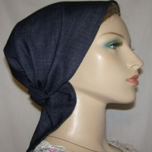 Denim Blue Headband Scarf