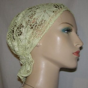 Lime Crochet Headband Scarf