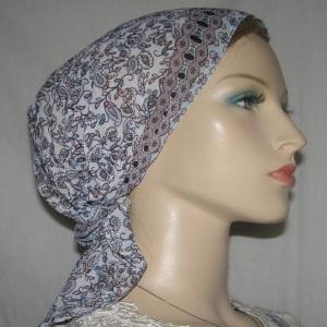 Mauve & Aqua Headband Scarf