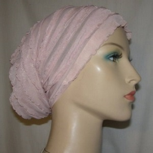 Mauve Tiered Ruffle Headwrap