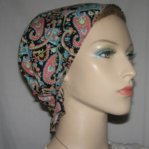Multi Color Paisley Design Headband Scarf