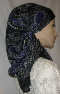 Navy Black Design Mitpachat Tiechel Scarf Headcoverings