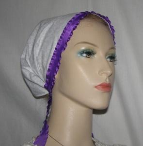 Noa Lavender Floral Mimkhatah Kerchief Head Covering