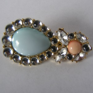 Pastel Blue & Peach Tichel Pin