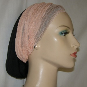 Peach Crinkle Headband