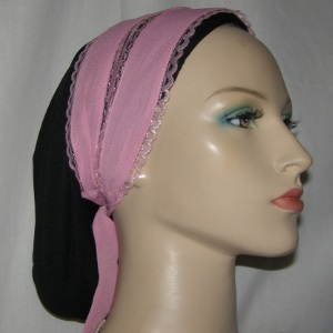 Pink Tie-On Headband