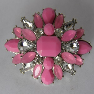 Pink Rhinestone Starburst Rhinestone Tichel Pin