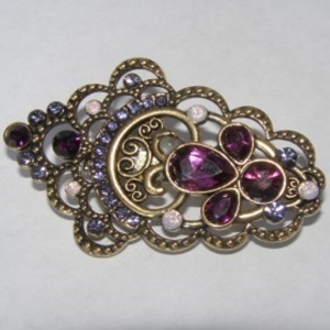 Victorian Style Purple Crystal Beaded Tichel Pin