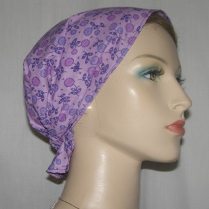 Purple Floral Headband Scarf