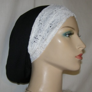 White Eyelet Stretch Headband