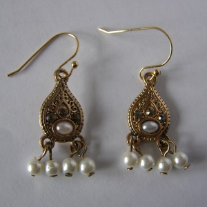 Boho Style Pearl Earrings