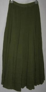 Avocado Cotton Boho Skirt