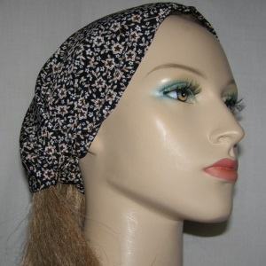 Black Brown Creme Floral Headband