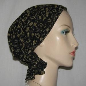 Black Gold Headband Scarf