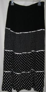 Black Polka Dot Boho Skirt