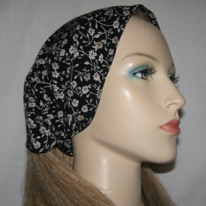 Black White Floral Head Band