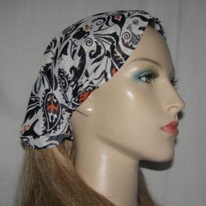 Black White Orange Design Headband