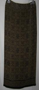 Brown Black Designed Wrap Skirt