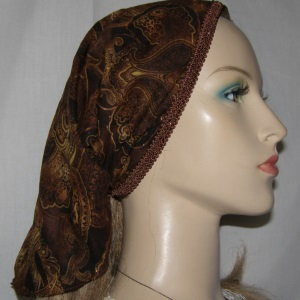 Brown Paisley Peachskin Mimkhatah
