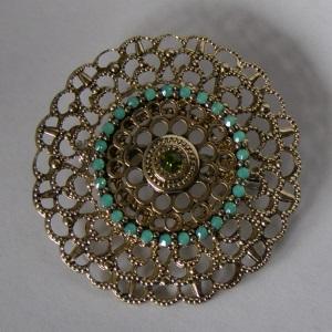 Celtic Goldtone Filigree Tichel Pin