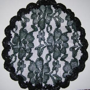 Dark Green Lace Mapit Doily Style Kippah