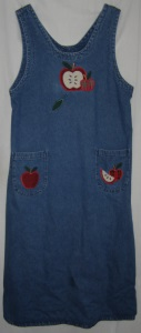 Applique Denim Maxi Dress