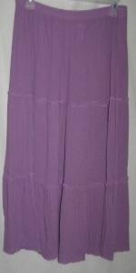 Lavender Gauze Cotton Boho Skirt