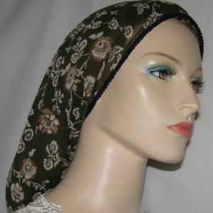 Loden Brown Creme Floral Snood