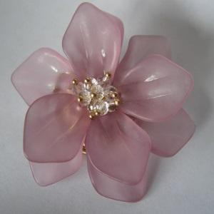 Mauve Flower Tichel Pin