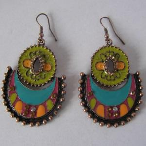 Antique Goldtone Crystal Earrings